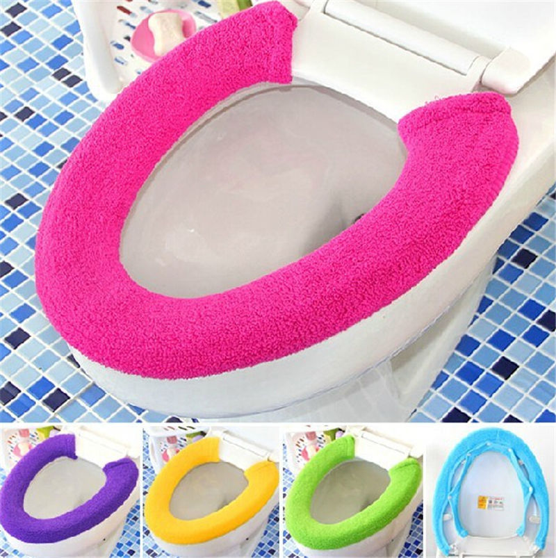 2015 Popular All Shape Toilet Cover Seat Lid Pad Overcoat Toilet Case Bathroom Protector Closestool Soft Warmer Cover Mat(China (Mainland))