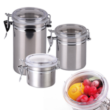 High Quality Stainless Steel Sealed Canister Jar Home Kitchen Coffee Sugar Tea Storage Bottles Jars (China (Mainland))