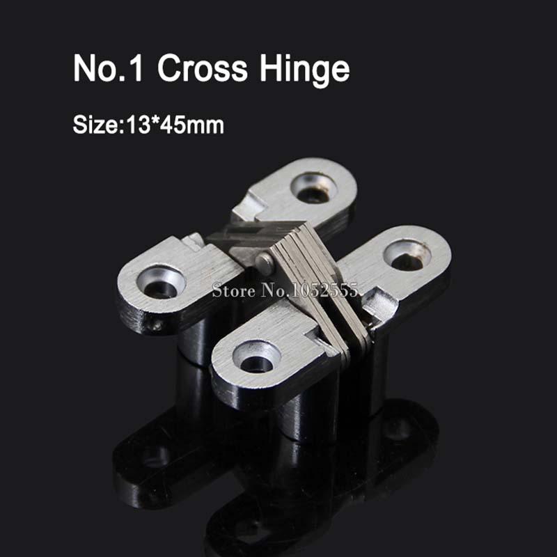 Quality 13x45mm Invisible Concealed Cross Door Hinge Stainless Steel Hidden Hinges Bearing 6KG For Folding Door Hidden Door K95(China (Mainland))