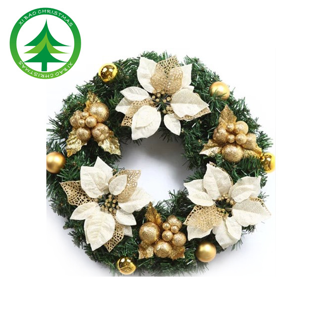 Hei Bao simulation Christmas gifts small wreath ornaments 30cm Christmas Wreath Christmas tree ornaments made of rattan(China (Mainland))