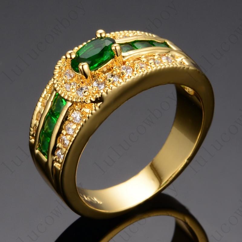 online get cheap 14k yellow gold emerald ring aliexpress. Black Bedroom Furniture Sets. Home Design Ideas