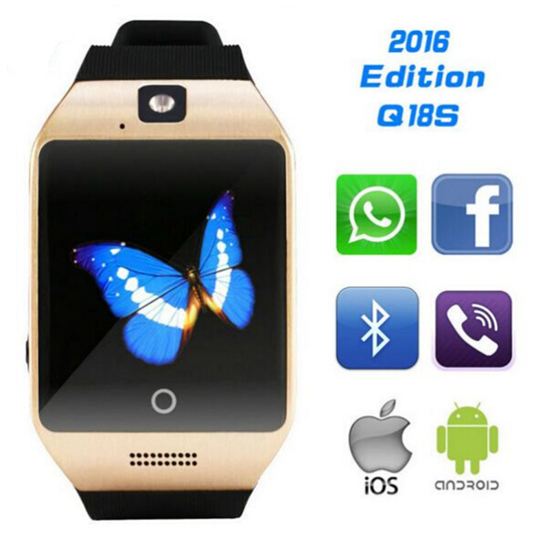 Bluetooth smart health electronics watch Apro Q18s NFC SIM Video camera Support Android/IOS phone wearable devices PK gt08 dz09(China (Mainland))