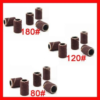 150pcs -  Sanding Bands,sanding drum for Nail Drill Bits #80/ #120/ #180 - Free shipping