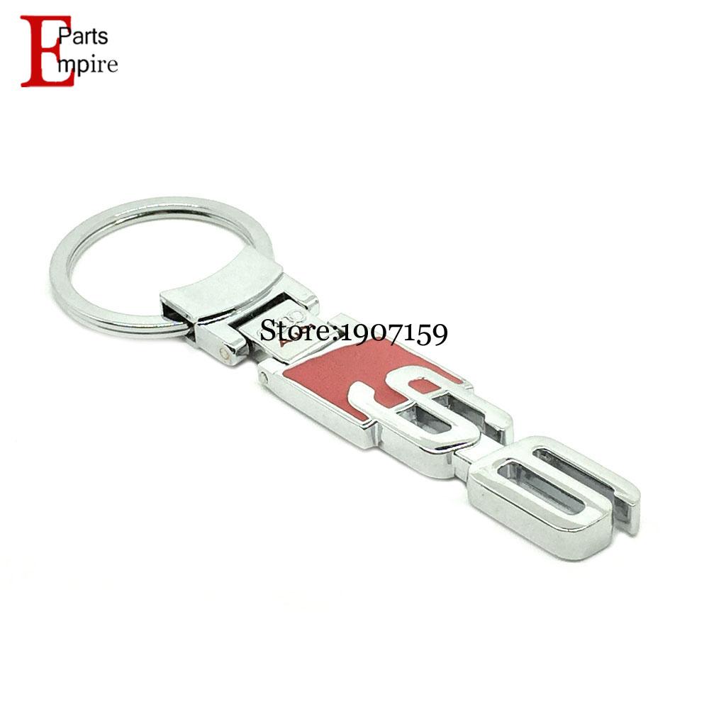 Car Styling For Audi Logo RS S6 Logo Q3 Q5 Q7 A3 A4 A5 A6 A8 R8 TT Key Chain Ring Badge Emblem Mark Metal KeyRing KeyChain(China (Mainland))