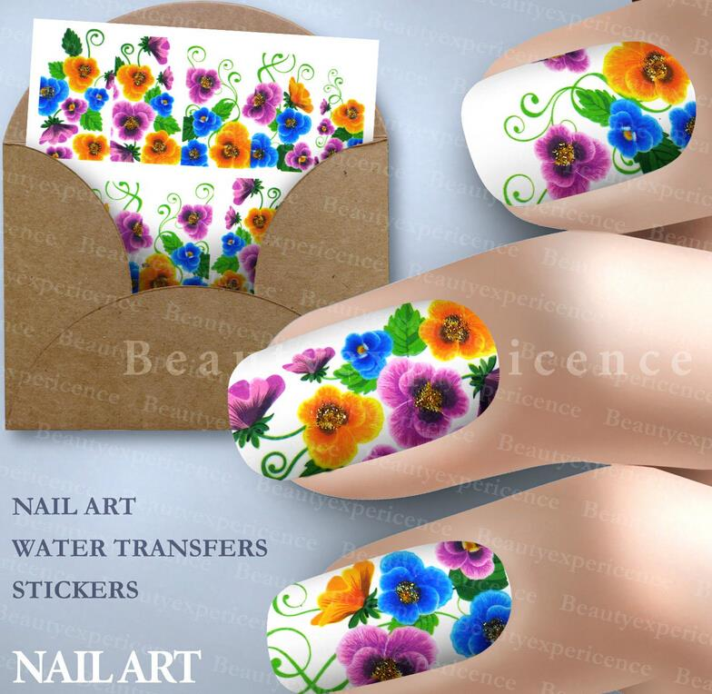 Blossom pattern Decoration Nail Art Decals Art Transfer Foil Nail Sticker Tip Decoration Tools(China (Mainland))