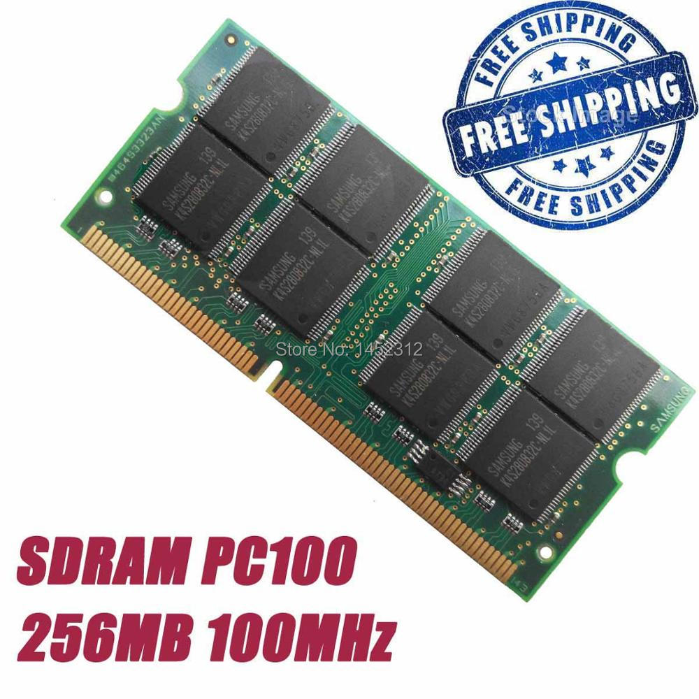 256M 256MB PC100 100MHz 144pin SDRAM SO-DIMM Laptop Notebook memory Rams + Free Shipping(China (Mainland))