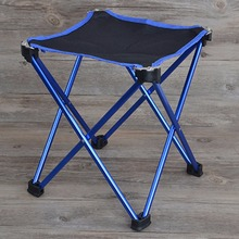 New Lightweight Outdoor Aluminum Square Portable Foldable Folding Fishing Chair Tool Camping Stool for picnic BBQ beach chair(China (Mainland))