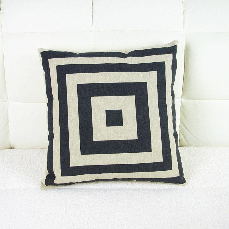 43cm*43cm Home Decoration Vintage Cotton Linen Simple Pillowcase Cushion Cover Pillow Case Sofa/Bed/Cars Covers - HANGZHOU LEABETTER SHOP store