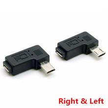 Buy 9mm Long Connector 90 Degree Left & Right Angled Micro USB 2.0 5Pin Male Female Extension Adapter 1PCS/lot for $2.88 in AliExpress store