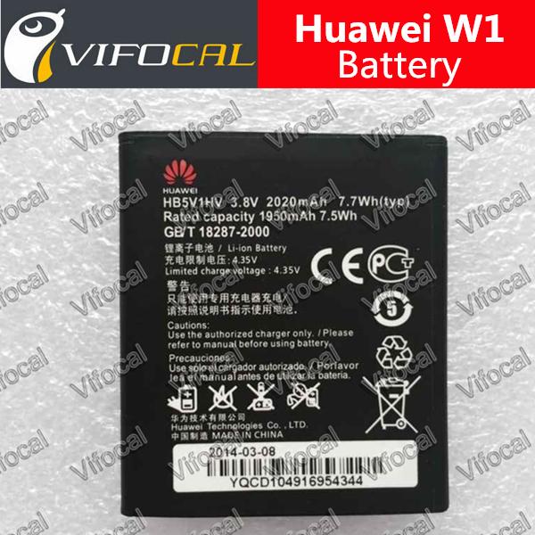 Huawei W1 Battery 100% Original 2020mAh HB5V1HV Replacement Battery For Huawei W1-C00 W1-U00 Cell Phone + Free Shipping(China (Mainland))