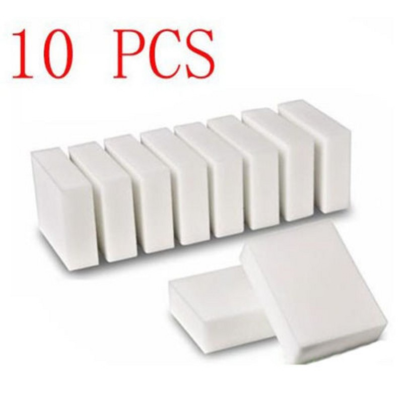 10 Pcs Magic Super eraser Clean Melamine Sponge Wash Cleaner Stain Remover Pad Natural Eco White Home Kitchen Cleaning TQ-KC026(China (Mainland))