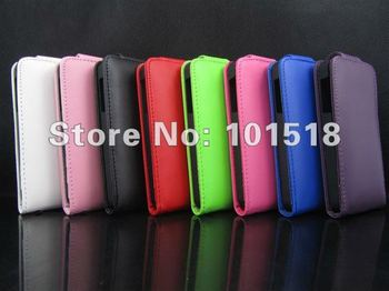 Hot selling Free shipping&50pcs/Lot New Upper and lower open Leather Color Wallet Book Case Cover Pouch for iPhone 5 5g