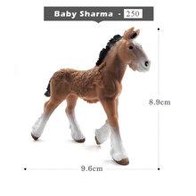 Simulação animal modelo cavalos figuras de ação crianças decoração para casa fadas jardim decoração acessórios estatueta presente para crianças brinquedo(China)