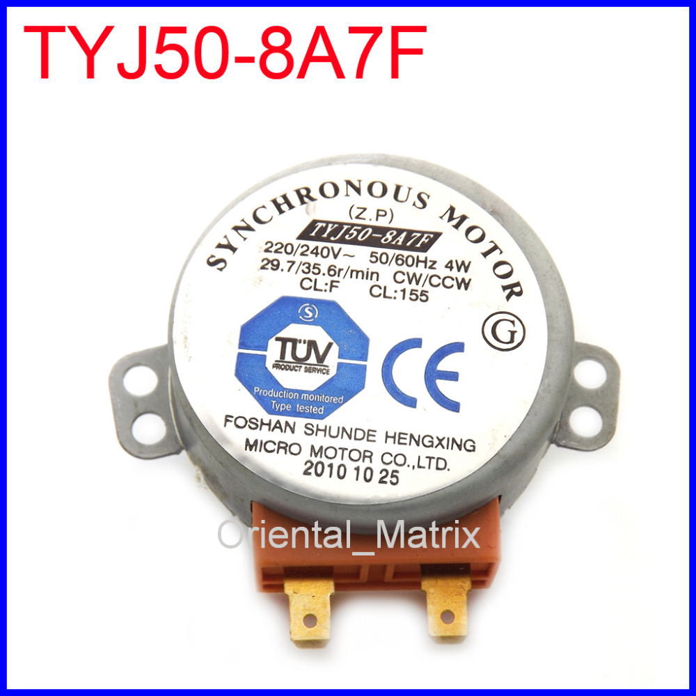 Free Shipping Tyj508a7f Mikrowelle Drehteller Motor Tyj50 8a7f Synchronous Motor 220 240v 50