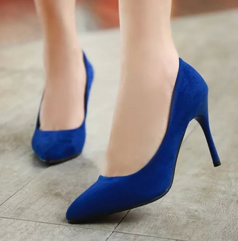 spring summer Fashion women pointed toe high-heeled thin heels shoes suede sexy pumps velvet princess single shoes wedding shoes<br><br>Aliexpress