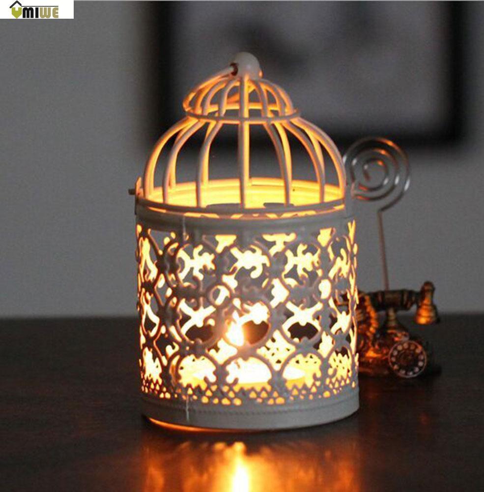 Umiwe Decorative Moroccan Votive Candle Holder Candlesticks Hanging Lantern Home Centerpieces with Base (White, Random Pattern)(China (Mainland))