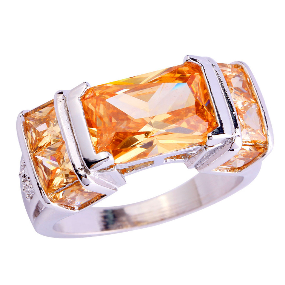 Aliexpress Buy New Fashion Beauty Morganite Silver Ring Size 7 8 9 10 W