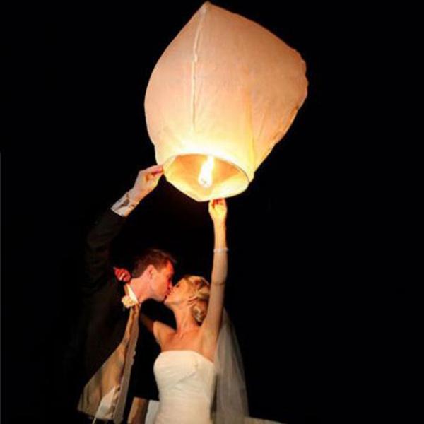 10pcs/lot Wishing Lanterns SKY Flying Balloons Lights Halloween Lights Chinese Kongming Laterns Paper Candle Wish Lamp(China (Mainland))