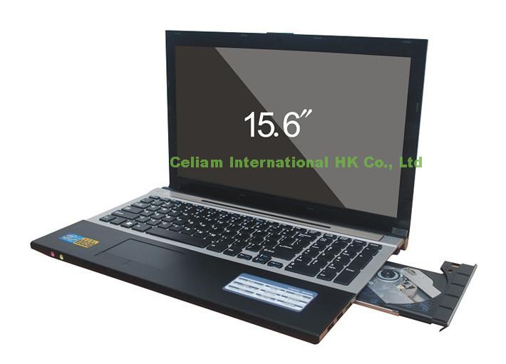 laptop 15.6 inch computer Intel D2500 cpu Dual-core 2 thread window 7 system camera 2MP 4G 500G HDMI USB2.0 Wifi DVD ROM VGA - Celiam Official store