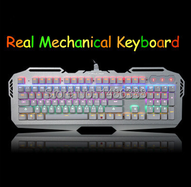 OEM USB Wired Keyboards Real Mechanical Keyboard Computer Games Dota 2 Keyboard PC Backlit Mechanic Keyboards Free shipping(China (Mainland))