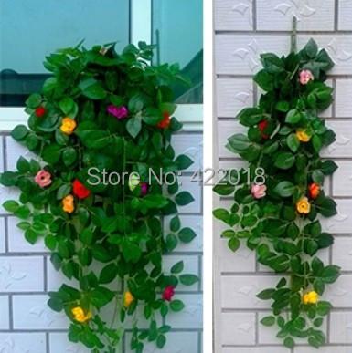 Quality Simulation flowersTea rose wedding celebrates9head decorative flower rattan home decoration Decorative Flowers - Natali Colthes Co.,LTD store