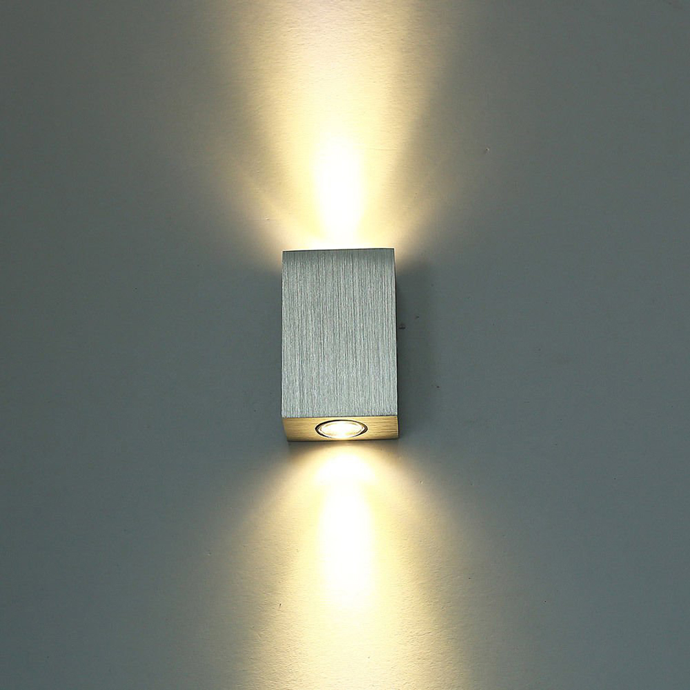 Led Wall Sconce Fixtures : 2W LED Wall Lamp Light Fixture Wall Sconce Porch Brushed Aluminum AC58 265V for Bath Bedroom ...