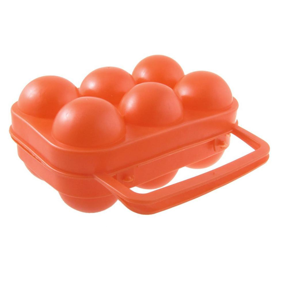 Best Selling Outdoor Camping Orange Red Folding Plastic Egg Tray Box Case(China (Mainland))
