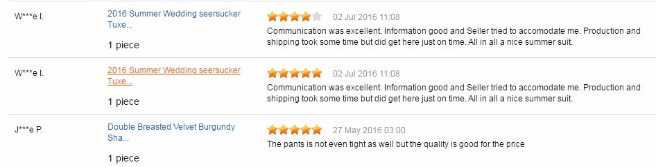 Good feedback From our customers