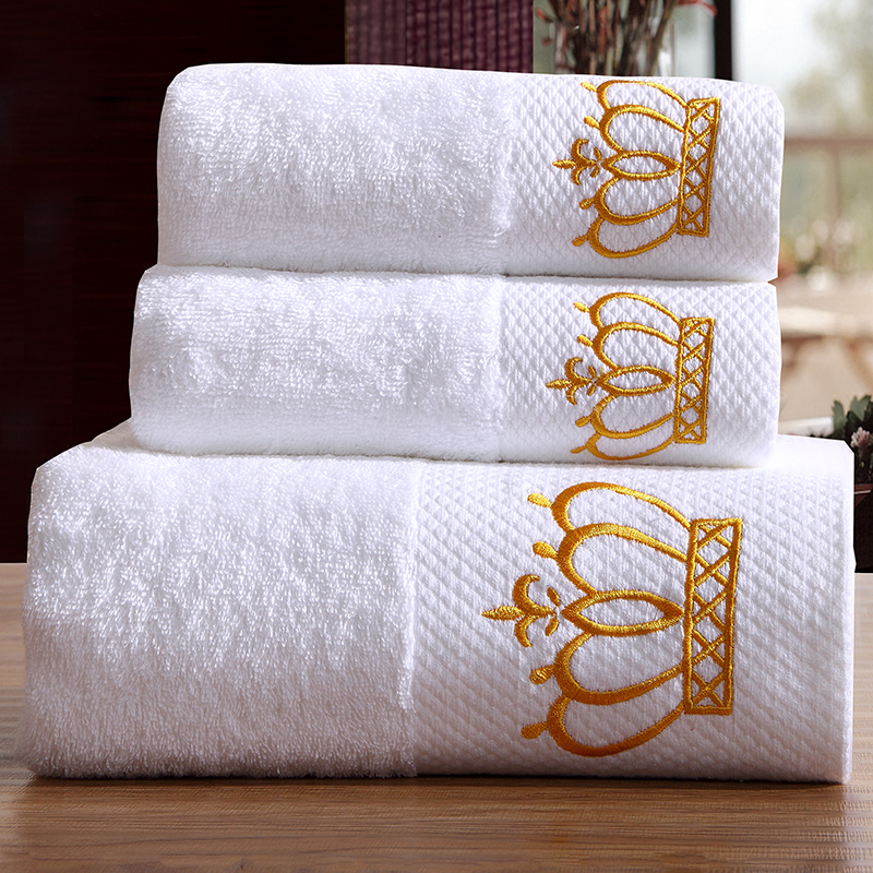 5 Star Hotel Luxury Embroidery 100% Cotton Bath Towel Set for Adults Large Beach Towels Brand Super Soft Absorbent Hand Towel(China (Mainland))