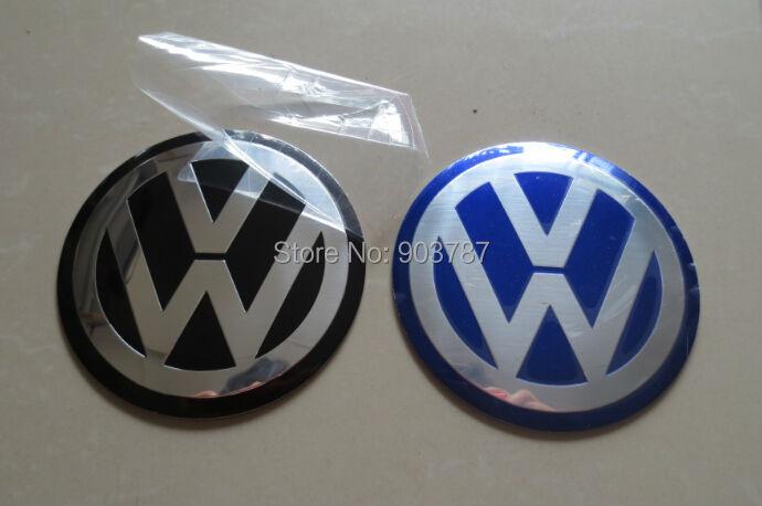 40pcs/lot Aluminum 90mm VW Wheel center caps Sticker (3 1/2) 3D Decal volkswagens LOGO badges Passat Golf black blue<br><br>Aliexpress