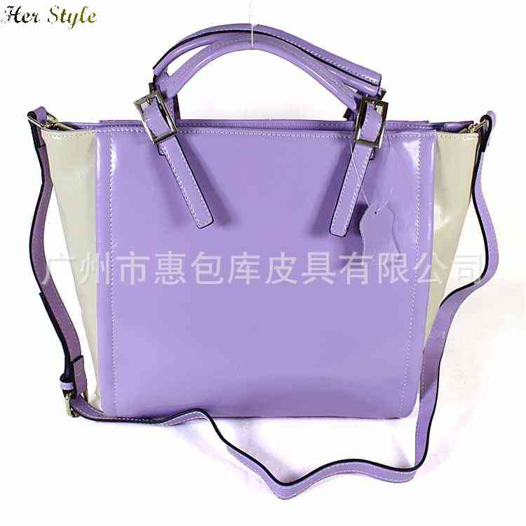 Free Shipping pure leather handbag spy bag genuine contrast color colour matching of dualuse with the 1430647394(China (Mainland))