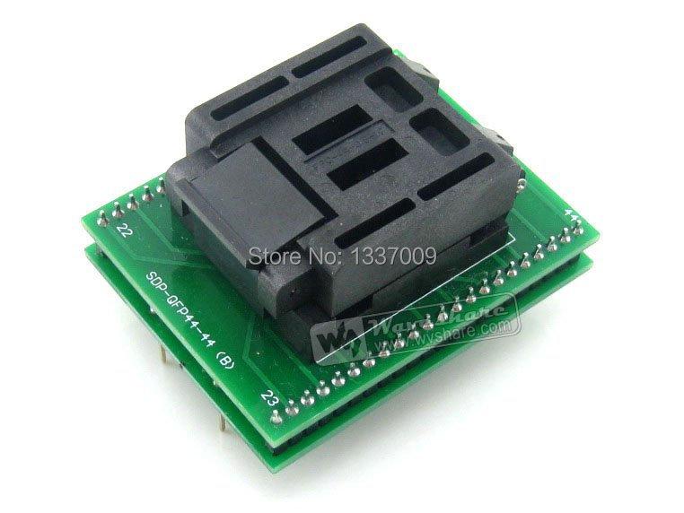 QFP44 TO DIP44 (B) QFP44 TQFP44 FQFP44 PQFP44 Enplas IC Programming Adapter Test Burn-in Socket 0.8mm Pitch + Free Shipping(China (Mainland))
