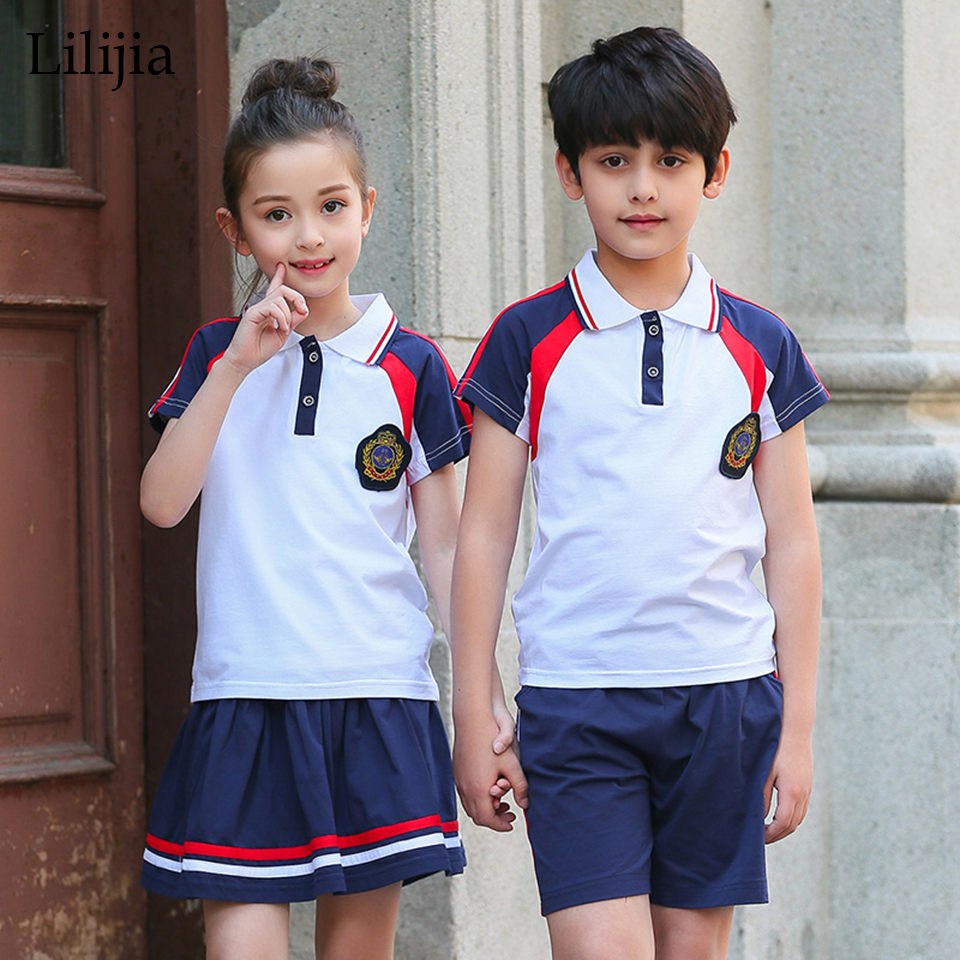 online get cheap school uniform pants juniors aliexpress com lilijia primary junior senior high school uniforms boys girls clothing sets teenage outfits summer students t