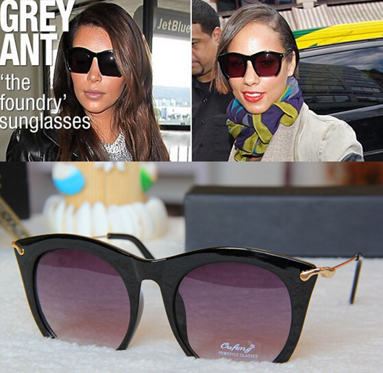 2015 New style ladies sunglasses eyewear Semi-Rimless UV400 cat eye sunglasses Women Metal legs sunglasses Fashion brand design(China (Mainland))