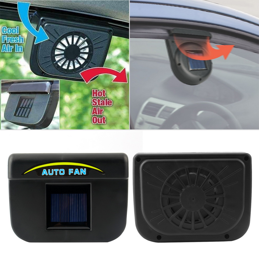 New car ventilation fan Solar Sun Power Car Window Fan Auto Ventilator Cooler Air Vehicle Radiator vent With Rubber Stripping(China (Mainland))