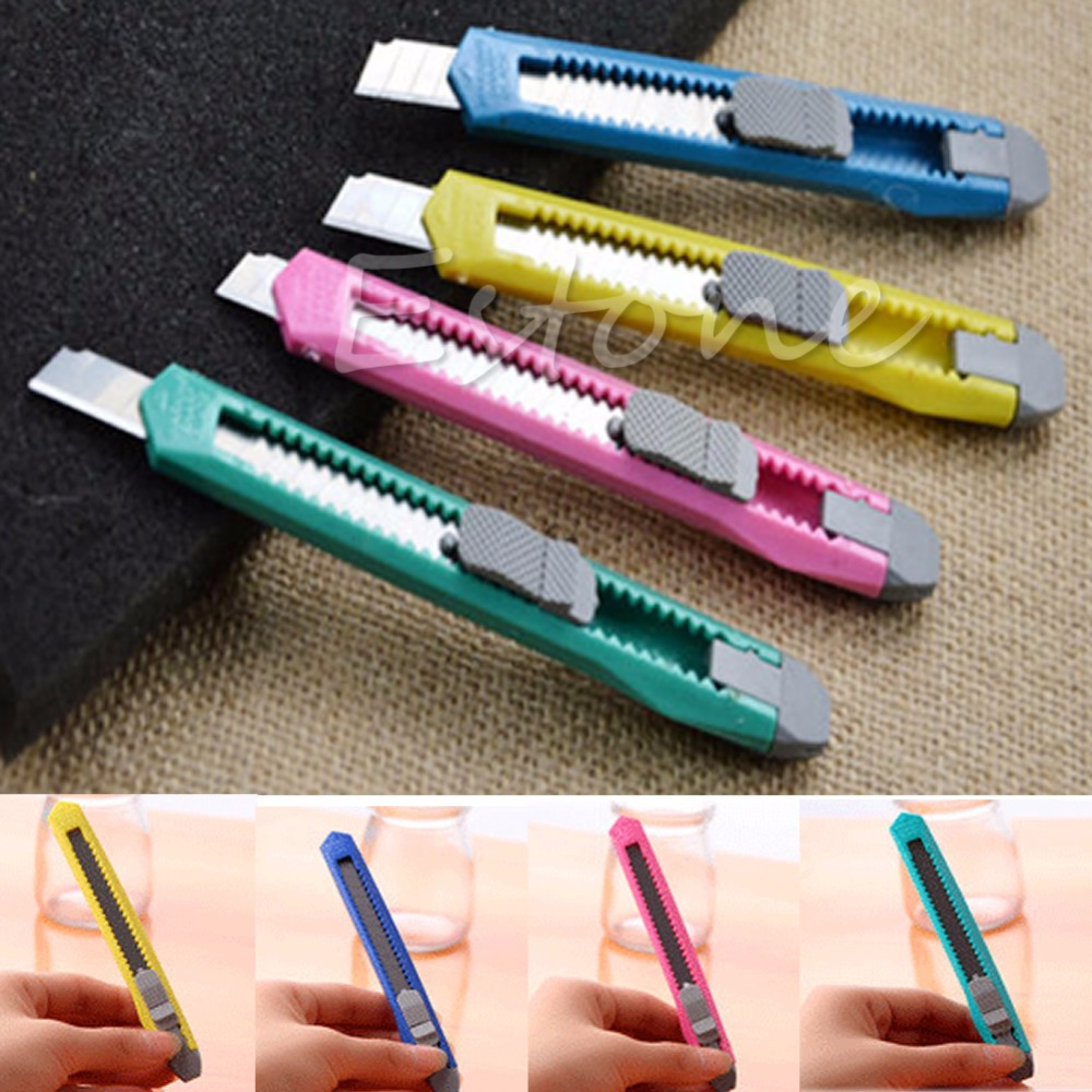 C18 2PCS Box Cutter Utility Knife Snap Off Retractable Razor Blade Knife Tool(China (Mainland))