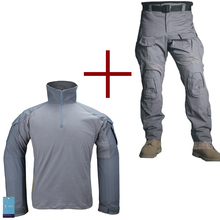 Buy Emersongear G3 Combat Uniform Shirt & Pants Knee Pads Army Airsoft Tactical Emerson Military Camouflage Wolf Gray WG for $102.00 in AliExpress store