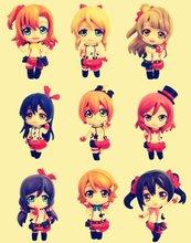 9pcs Japan Anime Lovelive Project Kousaka Honoka Minami Kotori Ayase Eli Tojo Nozomi Nishikino Maki LoveLive! Toy Figure Model