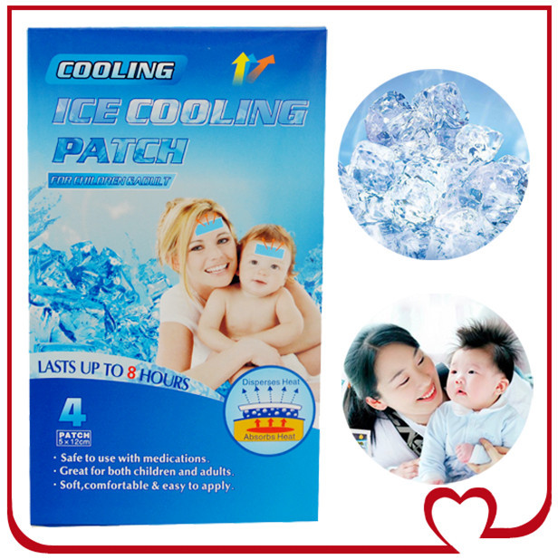 10pcs New Arrival Best Sale(5x12cm)Pain Relief Reduce Cool Baby Fever Patch And Get A Fever Down(China (Mainland))