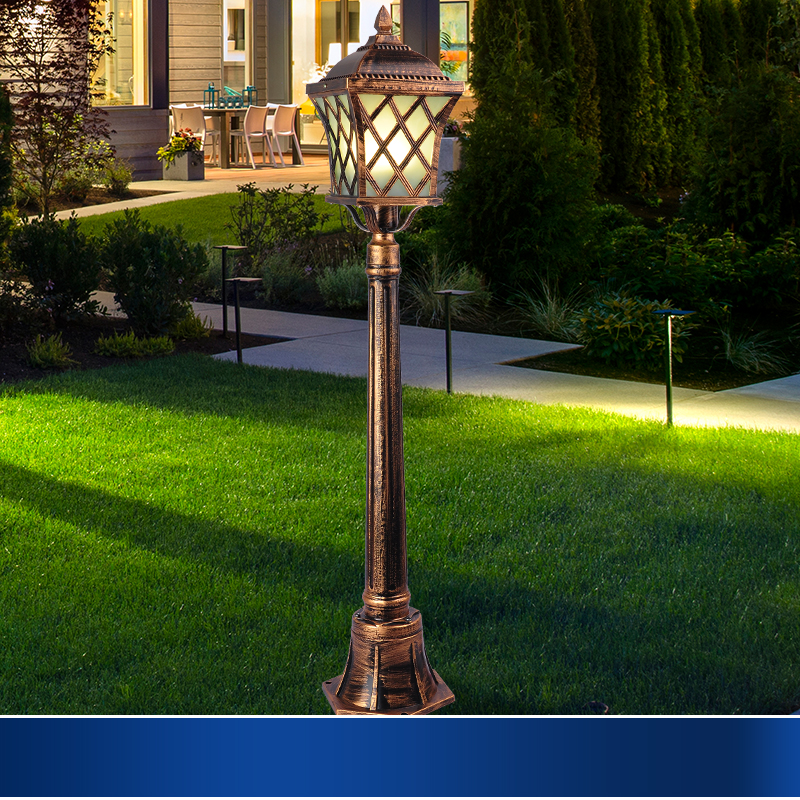Outdoor Landscape Lighting Garden Post : Outdoor garden lights lawn lamp post waterproof landscape