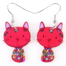 Acrylic Cat Colorful Earrings