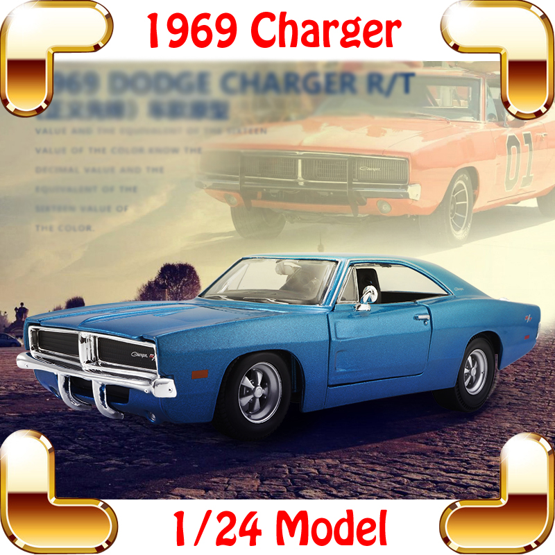 New Year Gift Maisto 1969 Charger R/T 1/24 Model Metal Car Collection Toys Children Boys Favour Fun Game Vehicle Alloy Cars(China (Mainland))