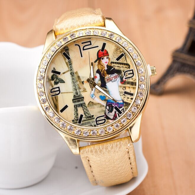 Women Casual Quartz watches Leather Strap wristwatch Fashion CZ Diamond Personality Gold Watch Girls Relojes - Dream More Store store