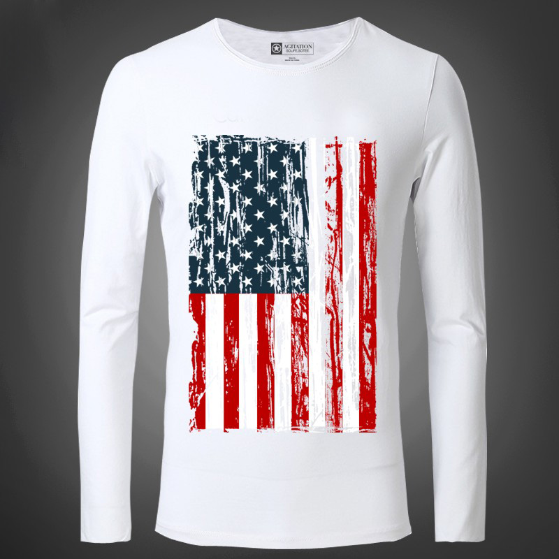 new american flag t shirts fashion cotton sleeved