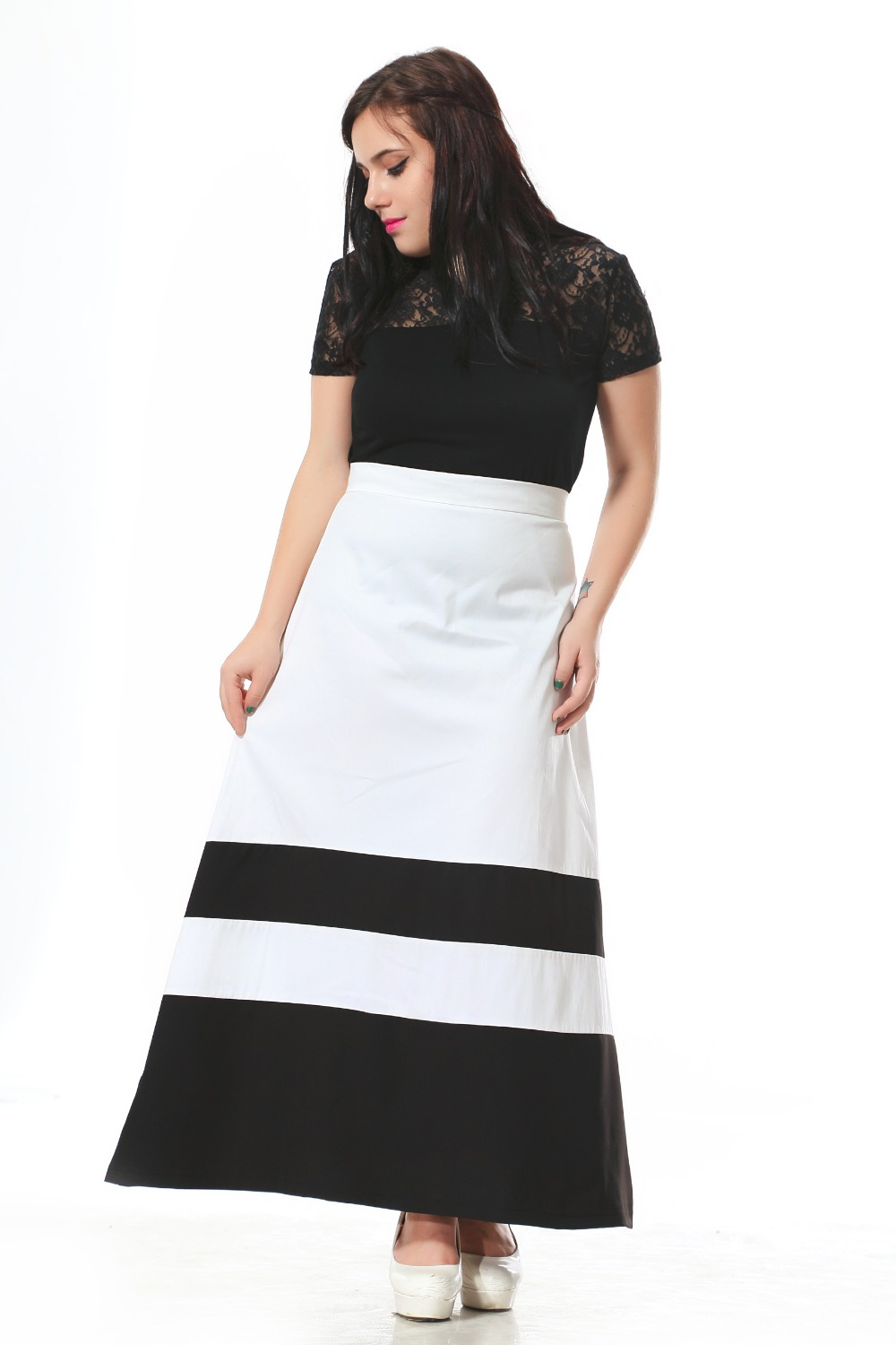 White Maxi Skirt Promotion-Shop for Promotional White Maxi Skirt ...
