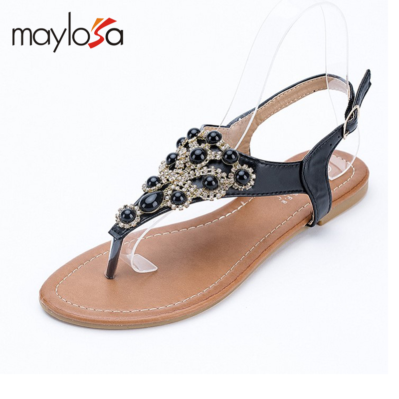 2016 summer fashion new women The new Bohemia diamond beach shoes women's sandals flip flops sandals size 36-41 от Aliexpress INT