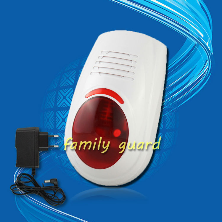 free shipping! Wireless Flash Strobe Outdoor Siren Red Light 100dB 315MHz Just For Our Alarm System(China (Mainland))