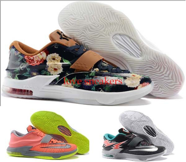 Hot Sale high quality kd 7 basketball shoes Kevin Durant men shoes size 7-12(China (Mainland))