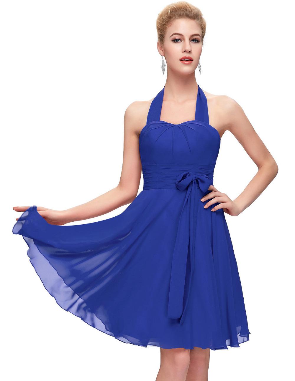 Vestidos де Coctel Короткие Коктейльные Платья 2017 Пром Платье Sexy холтер Шеи Красный Синий Фиолетовый Коктейль Платье для Девочек 2290
