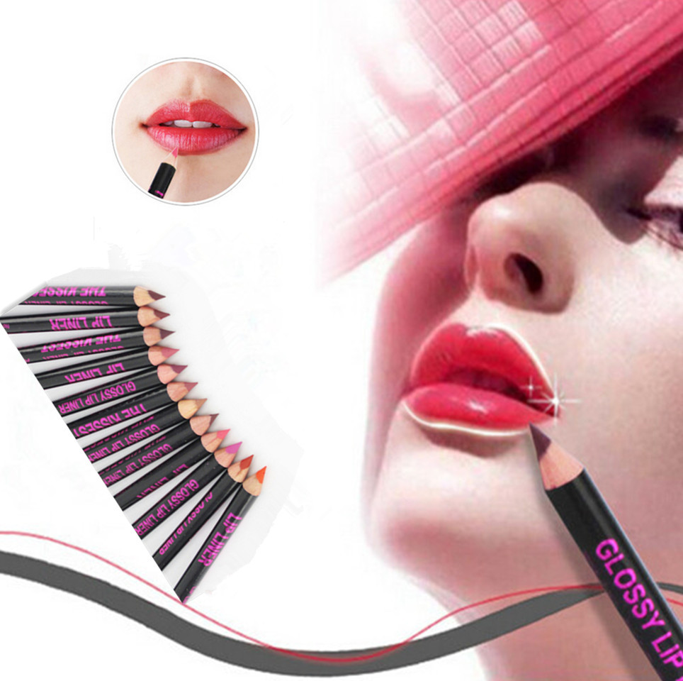 New Hot Waterproof Moisturizing Lip Liner Lip liner Pencil Makeup Cosmetic lipstick